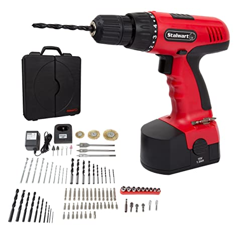 Amazoncom Cordless Drill Set 89 Piece Kit 18 Volt Power Tool