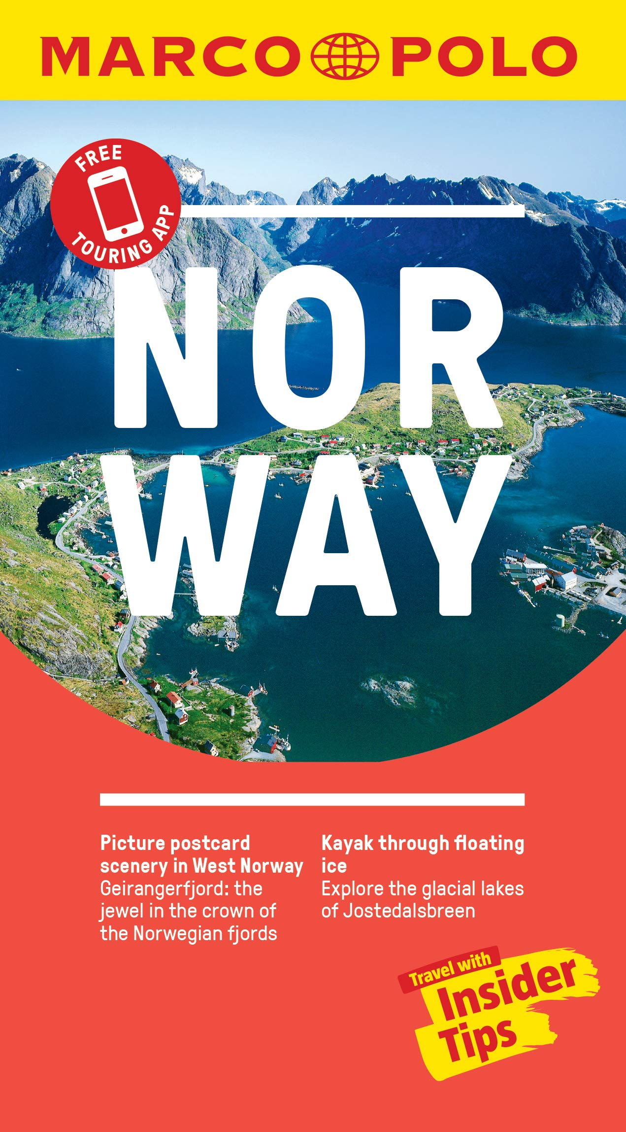 Norway Marco Polo Pocket Travel Guide With Pull Out Map