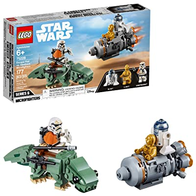 LEGO Star Wars: A New Hope Escape Pod vs Dewback Microfighters 75228 Building Kit (177 Pieces): Toys & Games