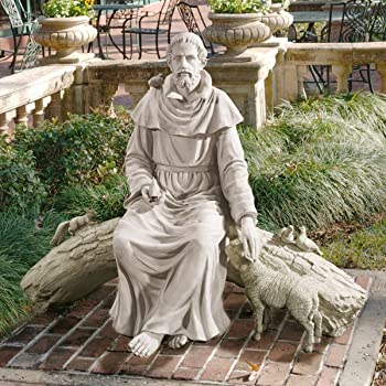 St. Francis garden statue - seated