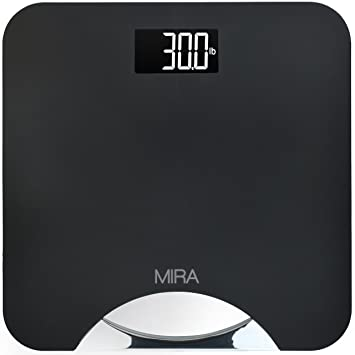 Amazoncom MIRA Premium Digital Bathroom Scale With Stainless Steel - Large display digital bathroom scales