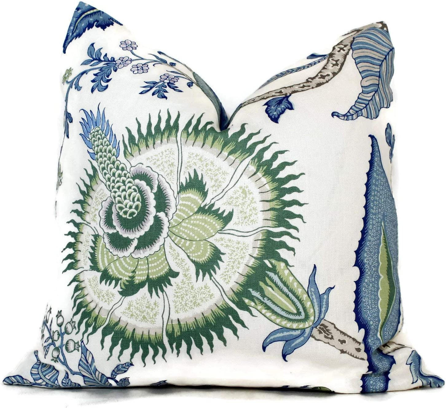20 x 20 F Outdoor Basket-woven Blue and White Diamond Pattern Cushion Cover Schumacher Tortola in the color Marine Pillow Cover