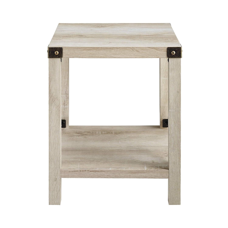 WE Furniture AZF18MXSTWO Side Table, 18 , White Oak