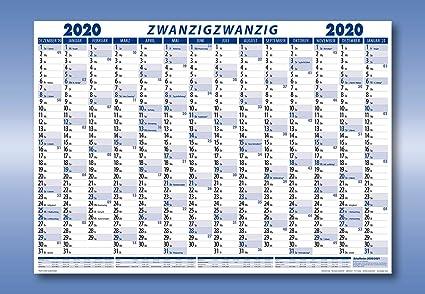 Calendrier Allemand 2020.Calendrier Mural 2020 Format A1 Livre Plie Version