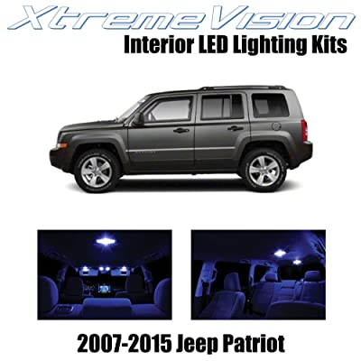 Xtremevision Interior LED for Jeep Patriot 2007-2015 (6 Pieces) Blue Interior LED Kit + Installation Tool: Automotive