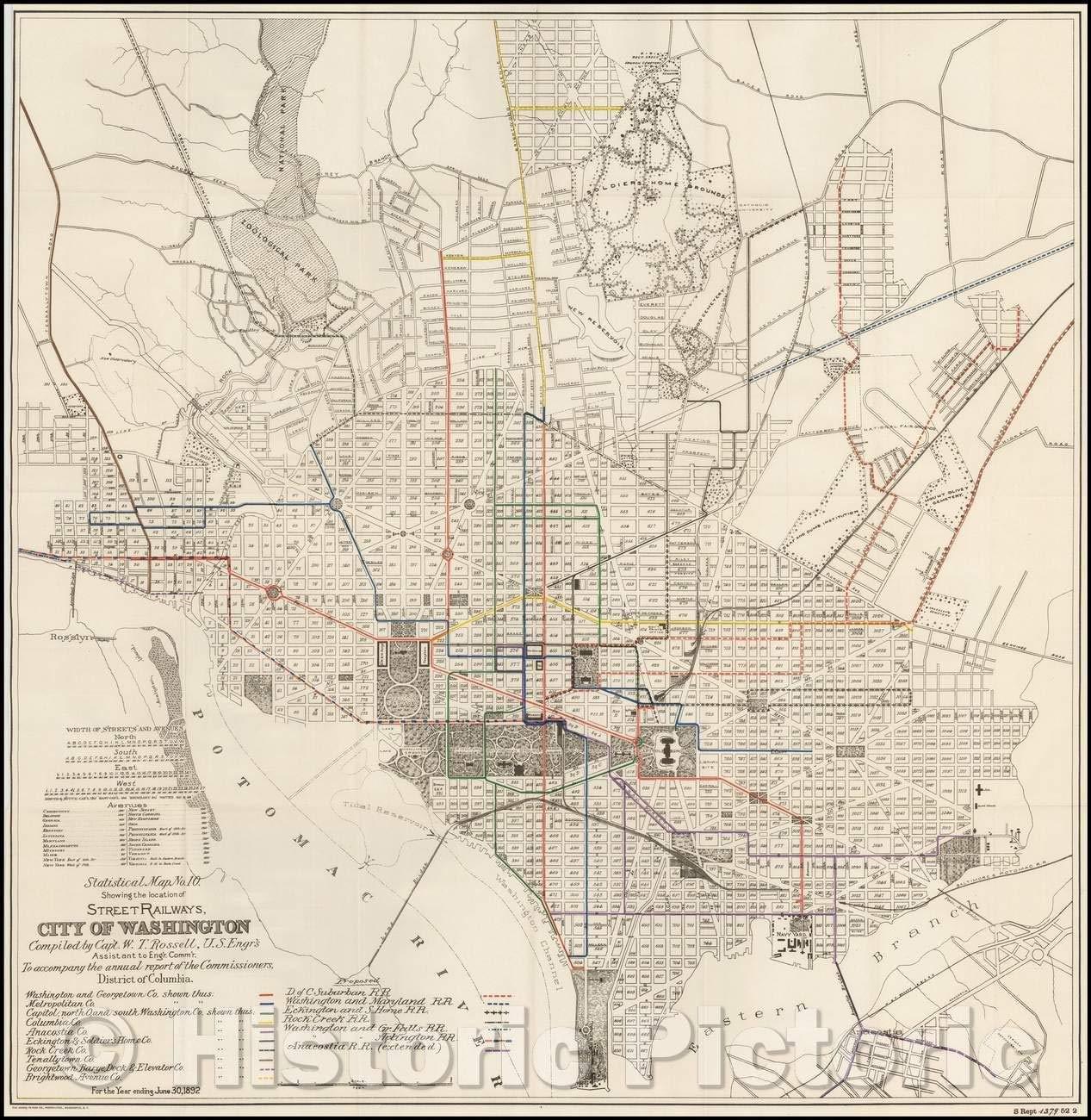 Amazon.com: Historic Map - Washington, D.C, Statistical Map ...