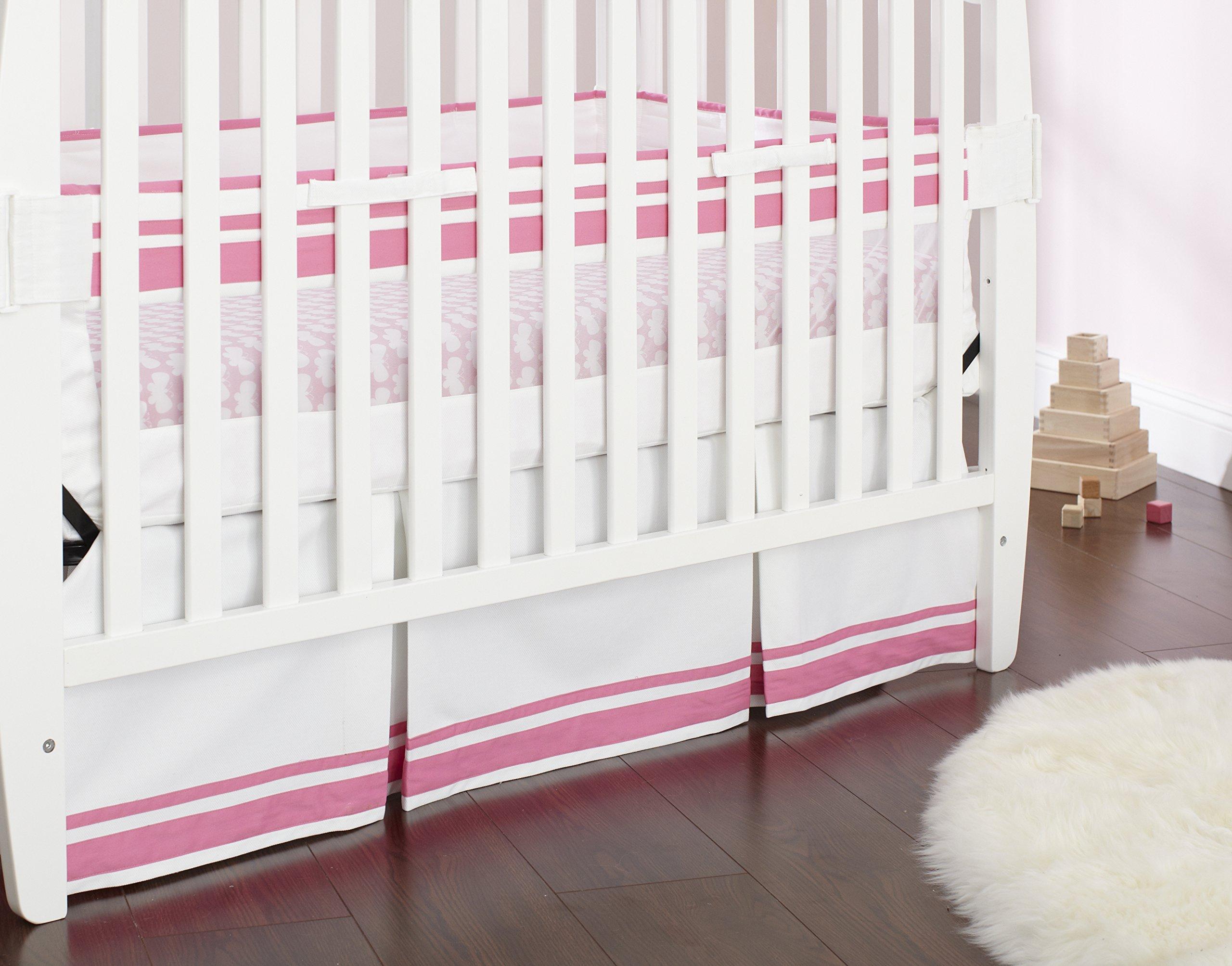 Just Born Fresh Air Crib Liner, Pink/White