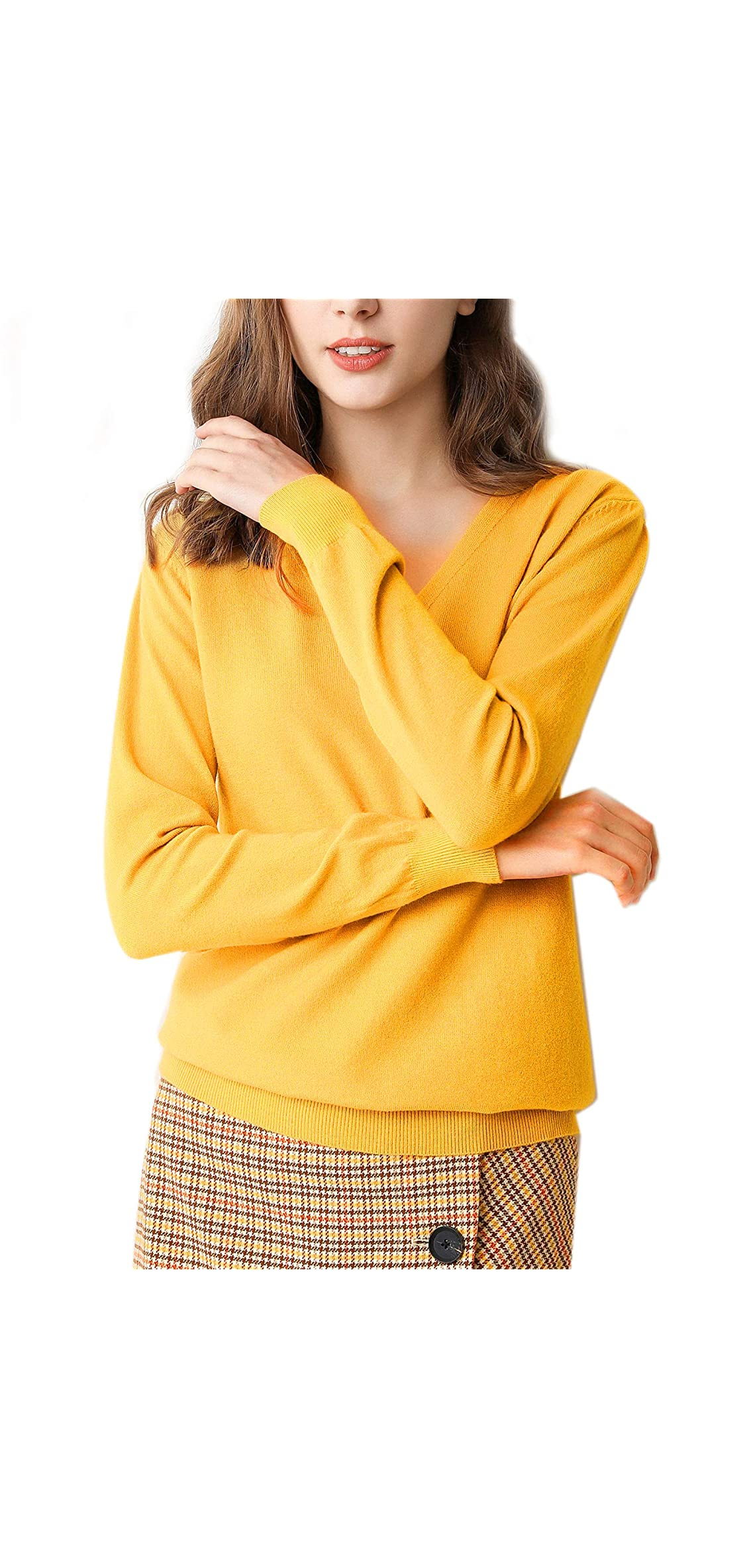 Pullover Sweatshirts For Women V Neck With Long /