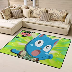Anti-Skid Rugs,Fairy Tail for Living Room W78.7xL118 inch