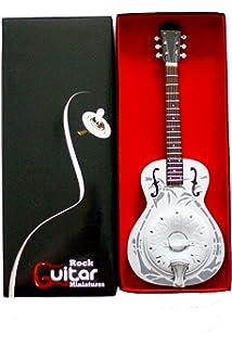 Mark Knopfler guitarra en miniatura marco de fotos resonador DOBRO ...