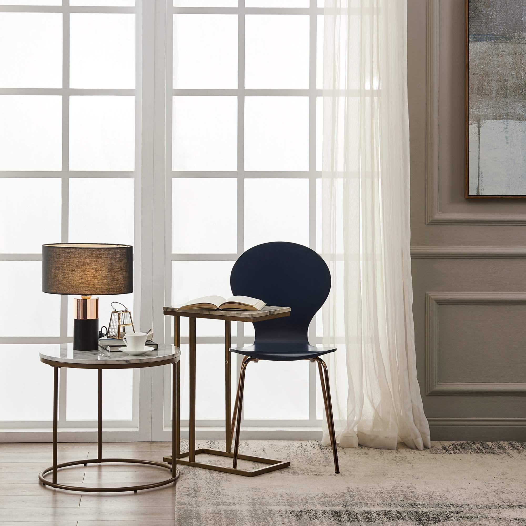 Versanora - Marmo C Shape Table - Faux Marble /Brass by Versanora (Image #3)