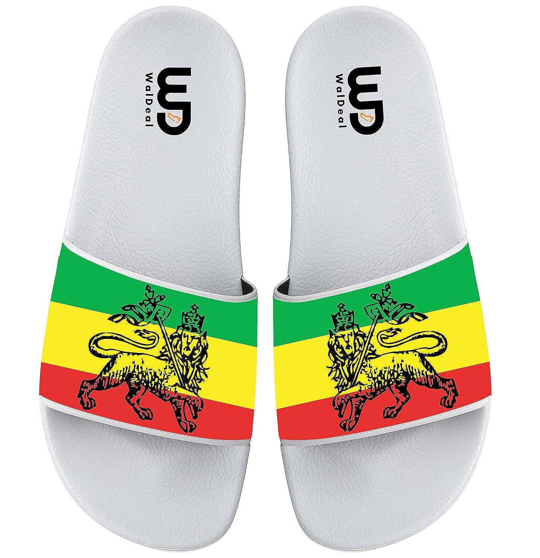 a6e9c3d6561ae8 Ethiopian Flag Print Summer Fashion Men Slide Slipper Soft Comfortable Non-slip  Flip Flops Sandals Shoes  Amazon.co.uk  Shoes   Bags