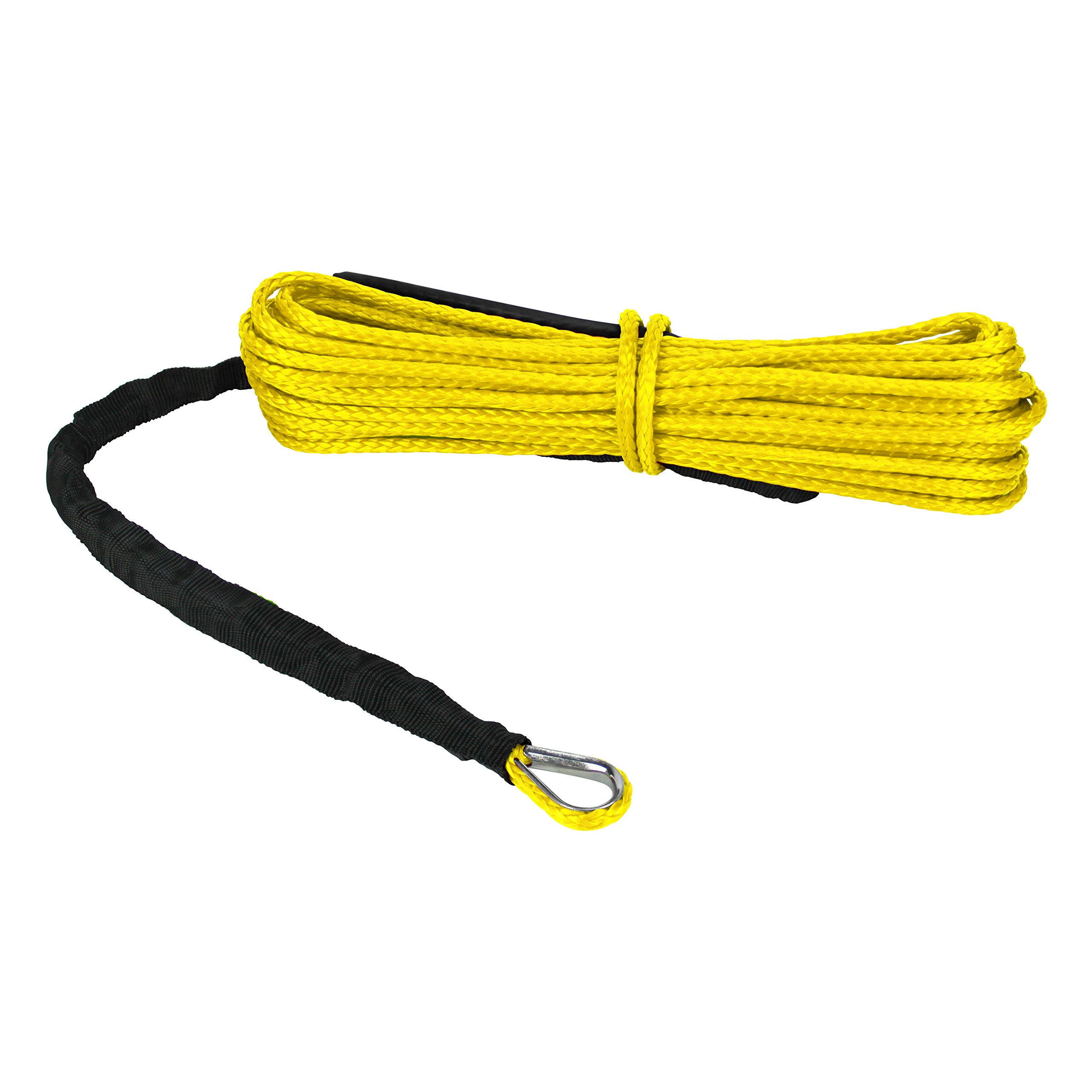 Extreme Max 5600.3200 ''The Devil's Hair'' ATV / UTV Winch Rope, Yellow by Extreme Max