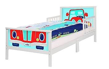 Roba Themenbett U0027Rennfahreru0027, Kinderbett 70x140cm Inkl. Matratze Und  Lattenrost Für Jungs