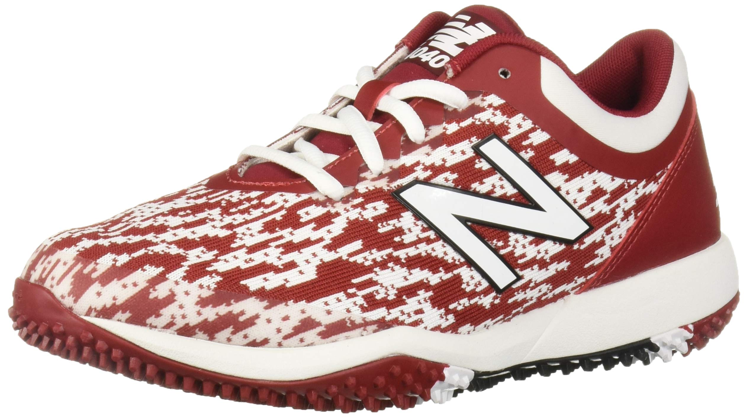 New Balance Men's 4040v5 Turf Track and Field Shoe, Maroon/White, 5 D US