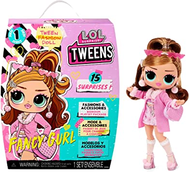 LOL Surprise Tweens Fashion Doll Fancy Gurl with 15 Surprises Including Pink Outfit and Accessories for Fashion Toy