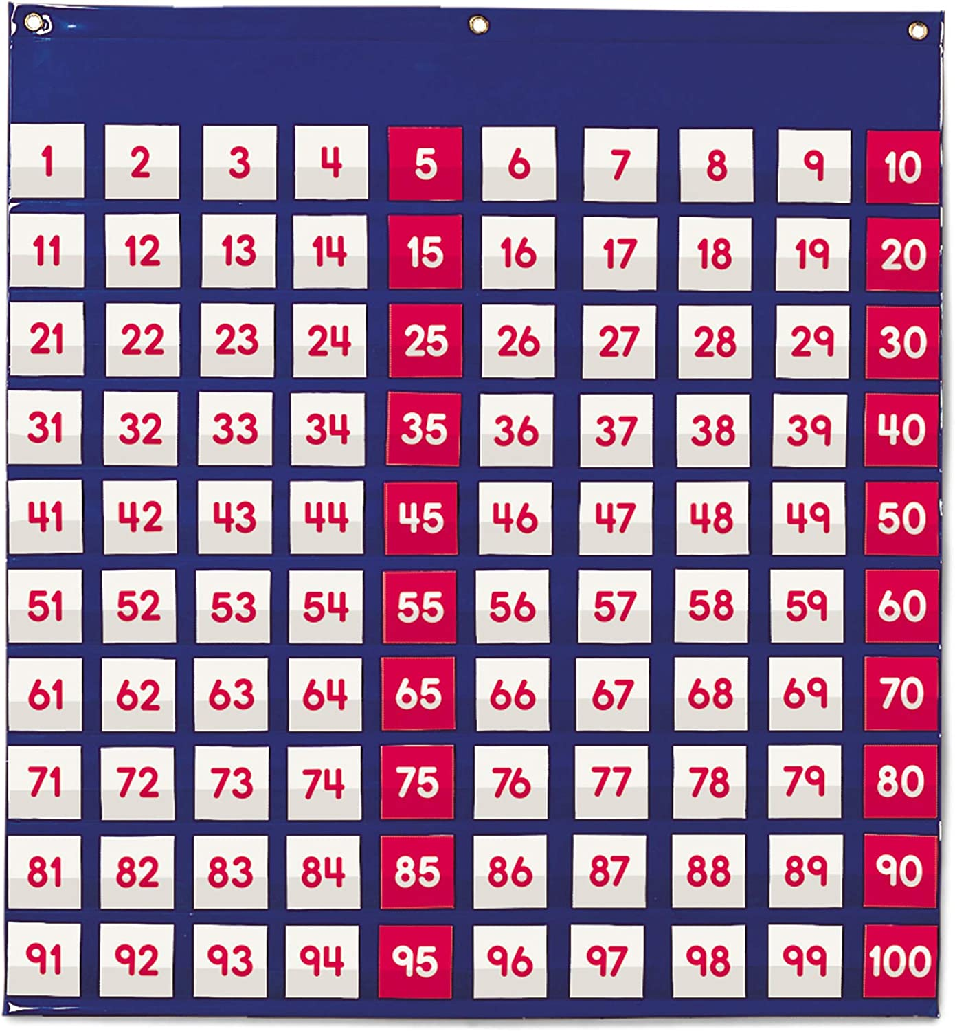 Learning Resources LER2208 Hundred Pocket Chart - Panel de Cien Bolsillos