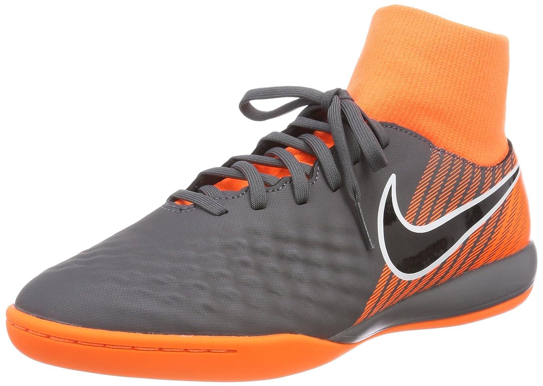 Nike Herren Obrax 2 Academy DF IC Fuszlig;ballschuhe  42.5 EU|Grau (Dark Greyblacktotal Orangew 080)