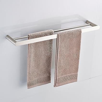 Bon Double Towel Bar Set Bath Shower Hand Towel Rail Shelf Holder Bathroom  Hardware Wall Mount Kitchen