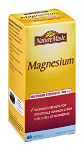 Nature Made Magnesium Maximum Strength 500 mg Softgels , 60 CT (Pack of 3)