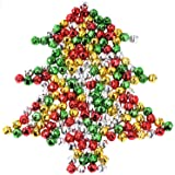 Jingle Bells Small Bell Mini Bells Bulk for Halloween Christmas Wedding Decoration and Jewelry Making, 10 mm, 200 Pieces