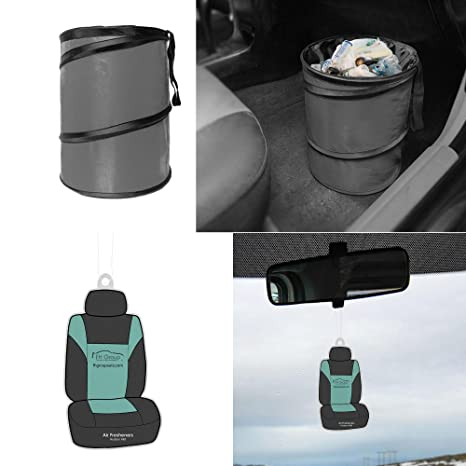 Collapsible and Compact Size Large FH Group FH1121GRAY Gray Car Garbage Trash Can