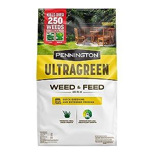 Pennington 100536600 UltraGreen Weed & Feed Lawn Fertilizer