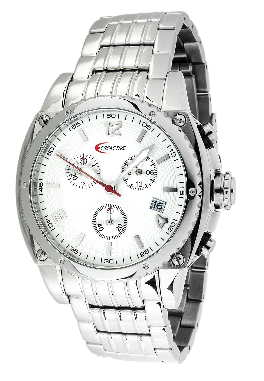 Creactive Herren-Armbanduhr Chronograph Quarz Analog Edelstahl - CA120105