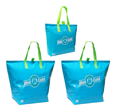 Amazon.com: Aislado bolsa Bolsas Reutilizables, Aqua Color 3 ...