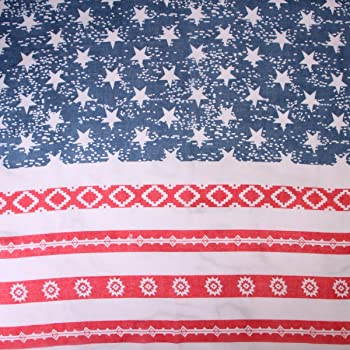 Women USA American Flag Print Large Stars /& Stripes Infinity Scarf Shawl Wrap