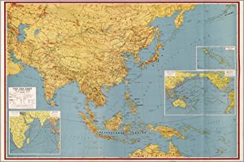 Map Of China And Southeast Asia.Amazon Com 20x30 Poster Wwii Map Of Southeast Asia Japan China