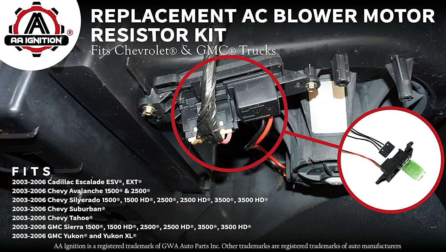 Ac Blower Motor Resistor Kit With Harness Replaces Wiring Is This Correct 89019088 973 405 15 81086 22807123 Fits Chevy Silverado Tahoe Suburban Avalanche