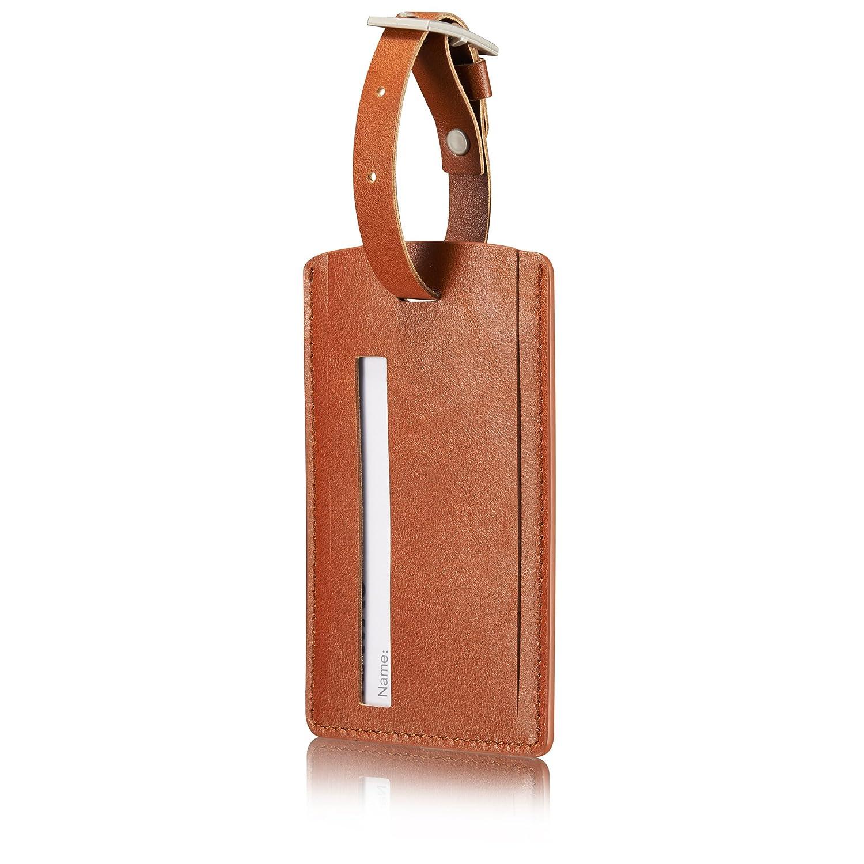 KAVAJ leather luggage tagVenice black genuine leather