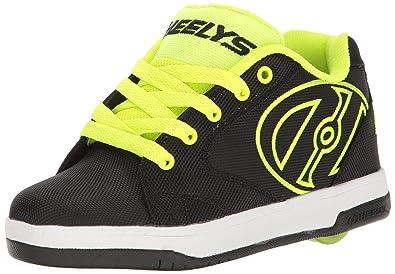 Heelys boys Propel 2.0 Sneaker, Black Black Red, Black (Black Bright Yellow Ballistic), 1 M Little Kid US