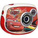Cars - Cámara digital 0.3MP, color rojo (Lexibook DJ024DC)