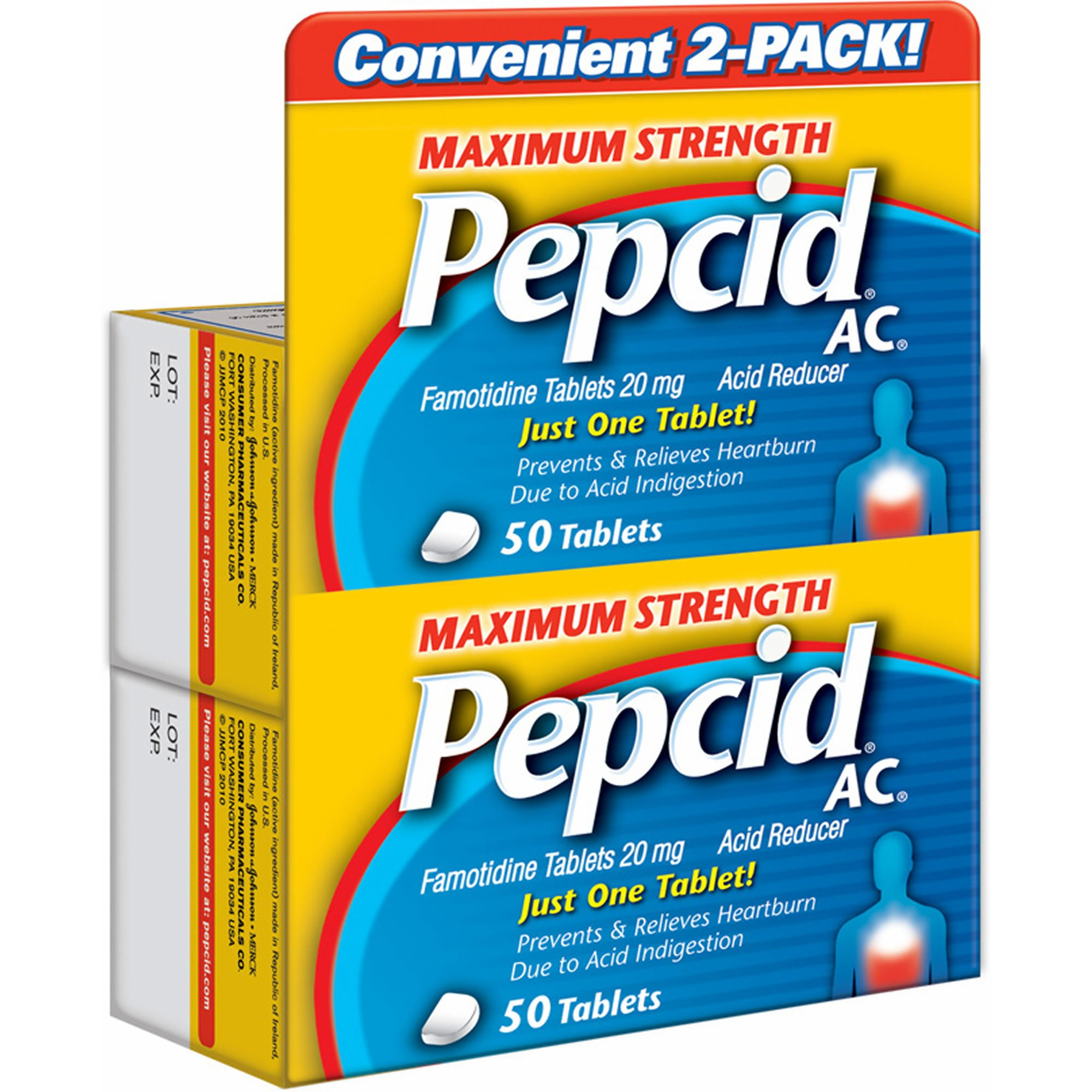 Pepcid AC Maximum Strength 20mg Acid Reducer Tablets, 100 ct. (pack of 6)