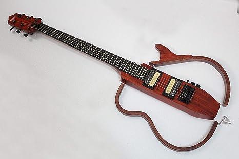 Guitarra eléctrica de viaje, color rojo palisandro: Amazon.es ...