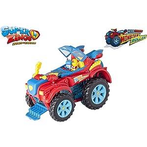 SuperZings- PlaySet Heroe Truck Vehículos y figuras especiales, Color rojo (Magic Box PSZSP112IN20)