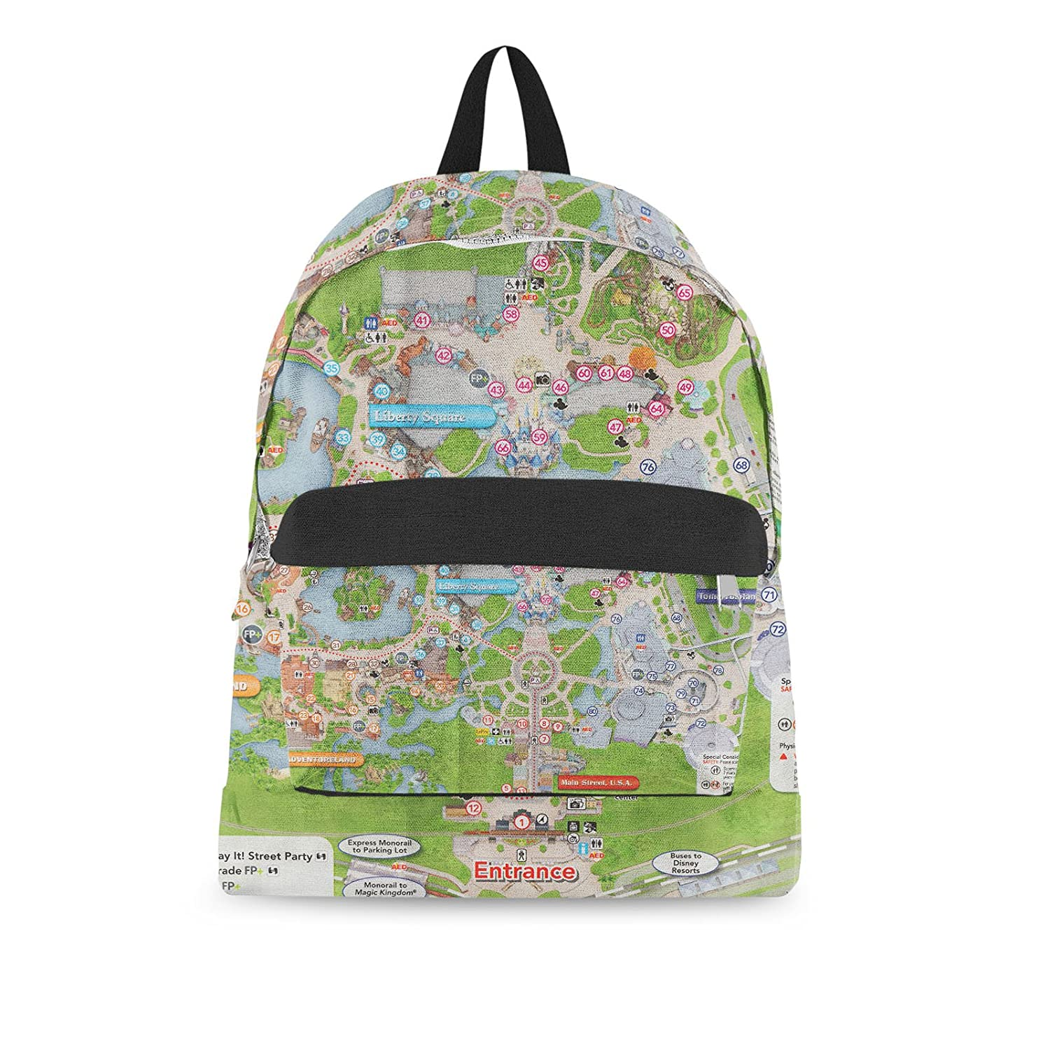 graphic about Magic Kingdom Printable Map named  Magic Kingdom Map Backpack All-Earlier mentioned-Print