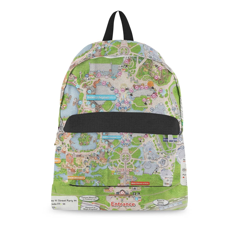 photograph regarding Magic Kingdom Printable Map identify  Magic Kingdom Map Backpack All-Around-Print