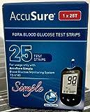 AccuSure Simpal Test Strips, 25 Strips