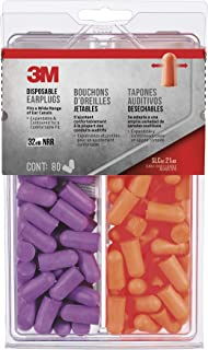 product image for 3M 92059-80025T Disposable Earplugs, 80-Pair