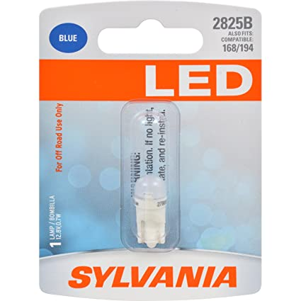 Amazon.com: SYLVANIA 2825 T10 W5W Blue LED Bulb, (Contains 1 Bulb): Automotive