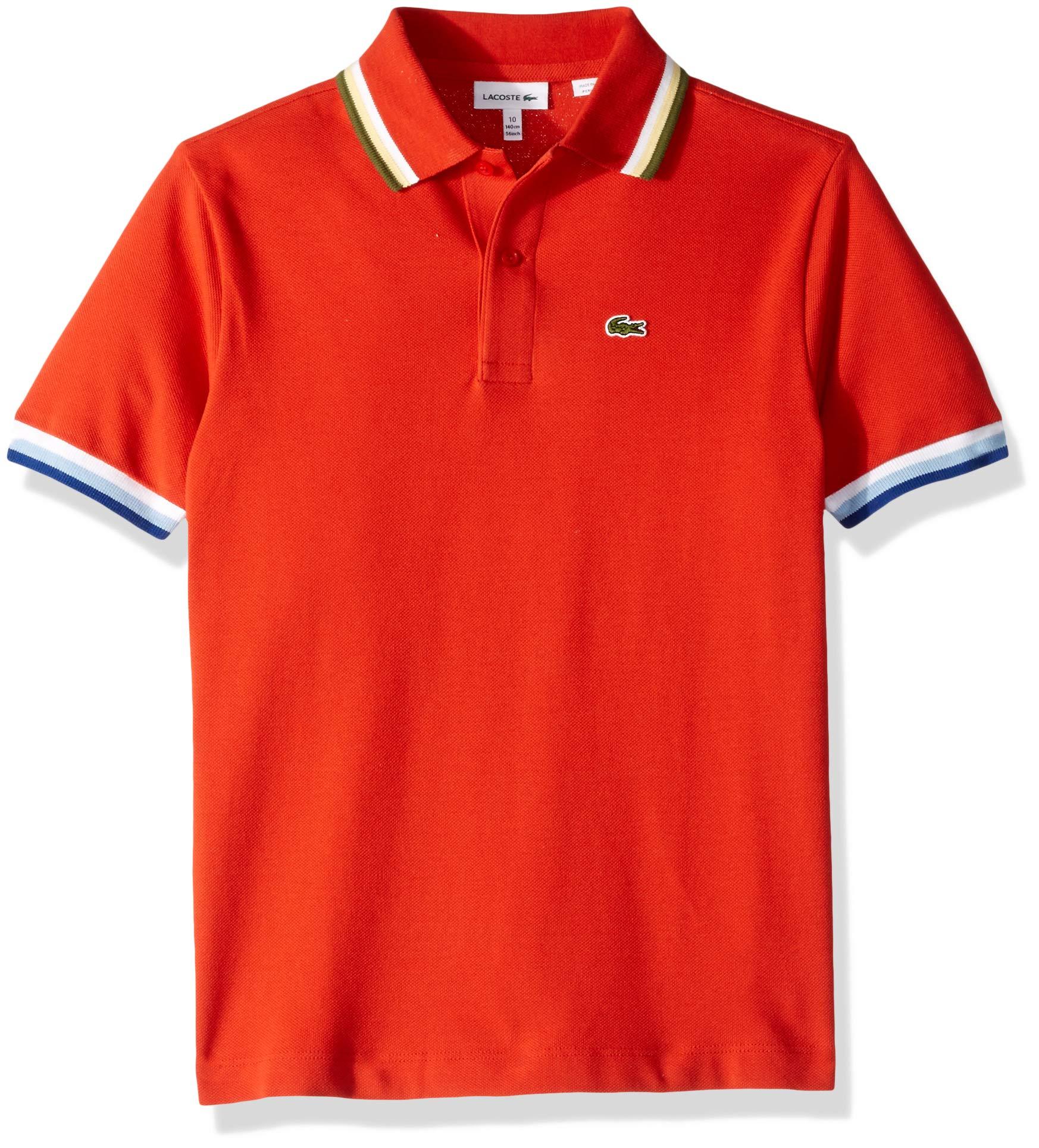 Lacoste Little BOY SEMI Fancy Pique Polo, SALVIA, 5YR