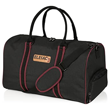 EleSac Canvas Style Duffel Bag For Men And Women With Shoe Compartment Weekend