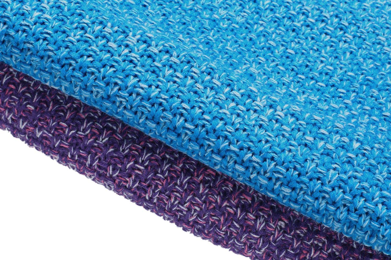 Ekouaer Acrylic Knitted Mermaid Tail Blanket Sleeping Bag for Kids and Adults