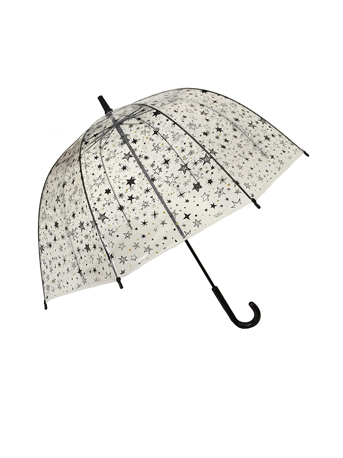 SMATI Stick Clear Umbrella - Birdcage Dome See Through - Windproof (Rainbow) SMATIBUL3468ARCENCIEL
