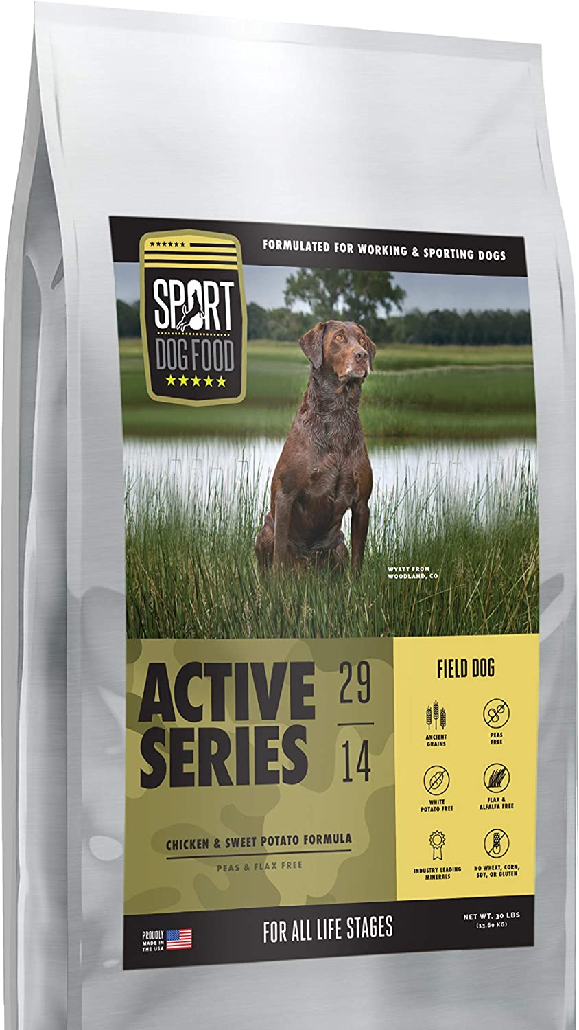 Active Series Field Dog Chicken Formula, Peas and Flax Free Dry Dog Food, 30 lb. bag