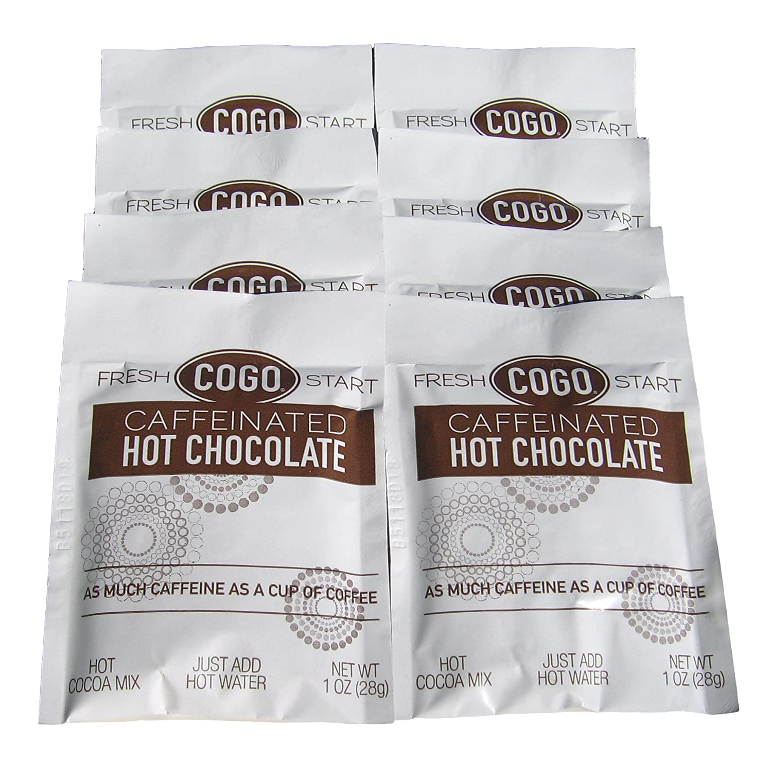 Amazon.com : COGO Caffeinated Hot Chocolate 8-pack TRIAL SIZE, 1oz ...