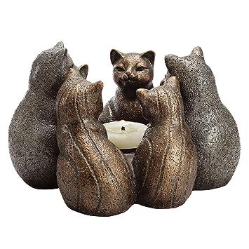 SPI Home - Portavelas con Forma de círculo de Gatos, Acabado ...